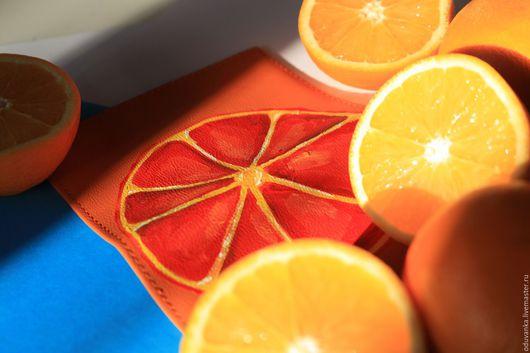 Обложки ручной работы. Ярмарка Мастеров - ручная работа. Купить Копия работы Апельсин Апельсиновой Девушки. Handmade. Обложка на паспорт