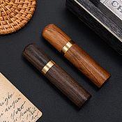 handmade. Livemaster - original item Wooden needle holder, needle case, tube, case. Handmade.