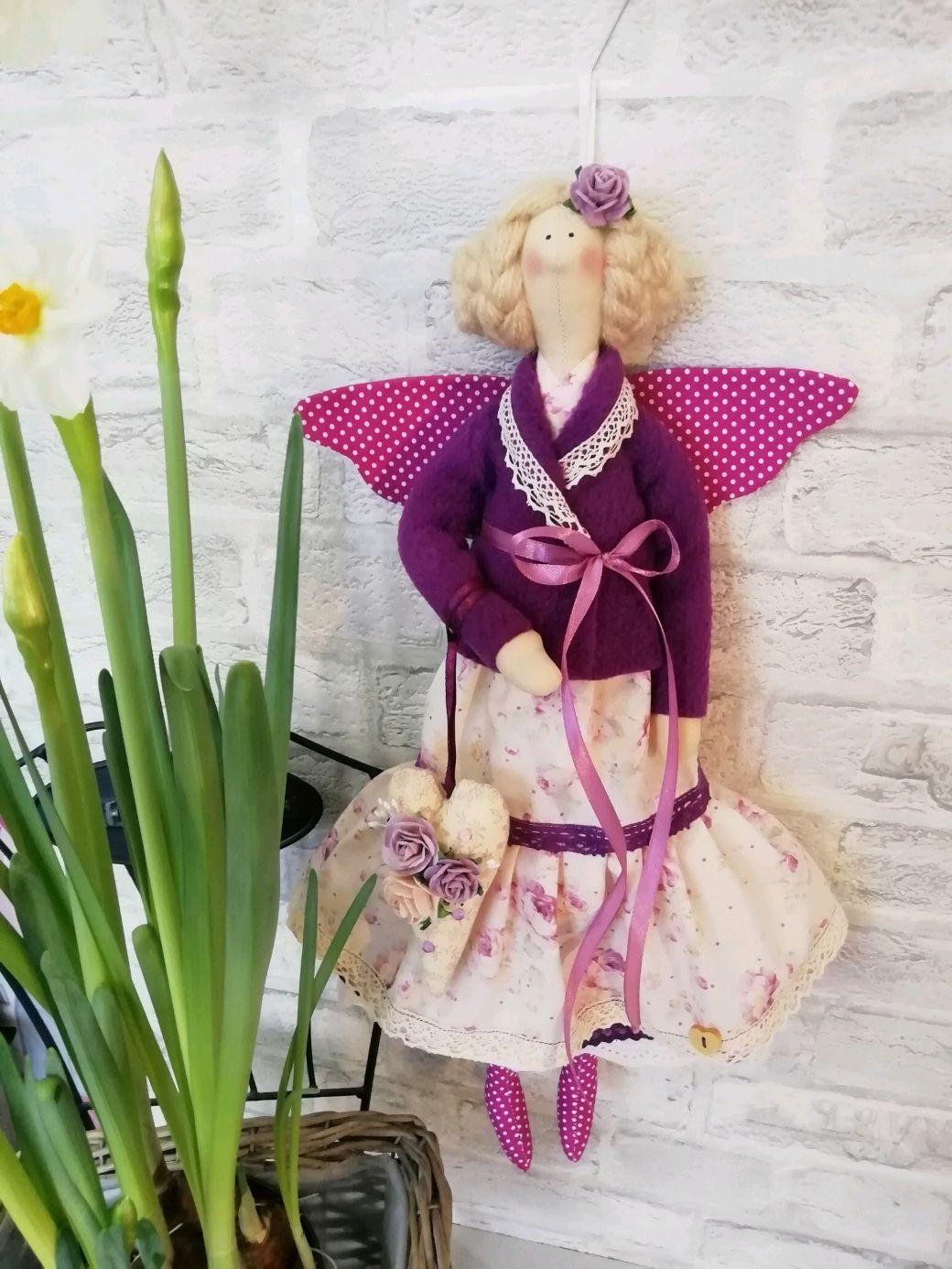 Цветочная фея Фиалка, Куклы Тильда, Санкт-Петербург,  Фото №1