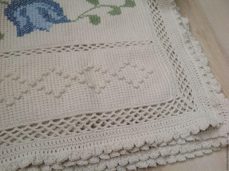 Покрывала тунисское вязание 11