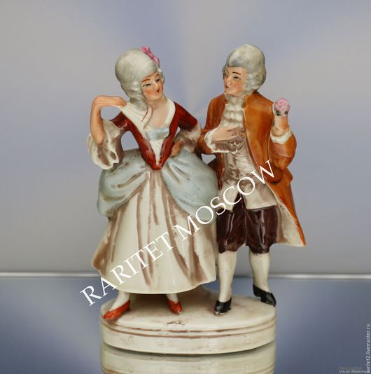 Винтажные предметы интерьера. Ярмарка Мастеров - ручная работа. Купить Пара кавалер дама фарфор Графенталь Германия 39. Handmade.