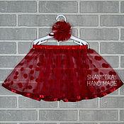 Одежда handmade. Livemaster - original item Polka dot skirt of soft tulle for girls. Handmade.