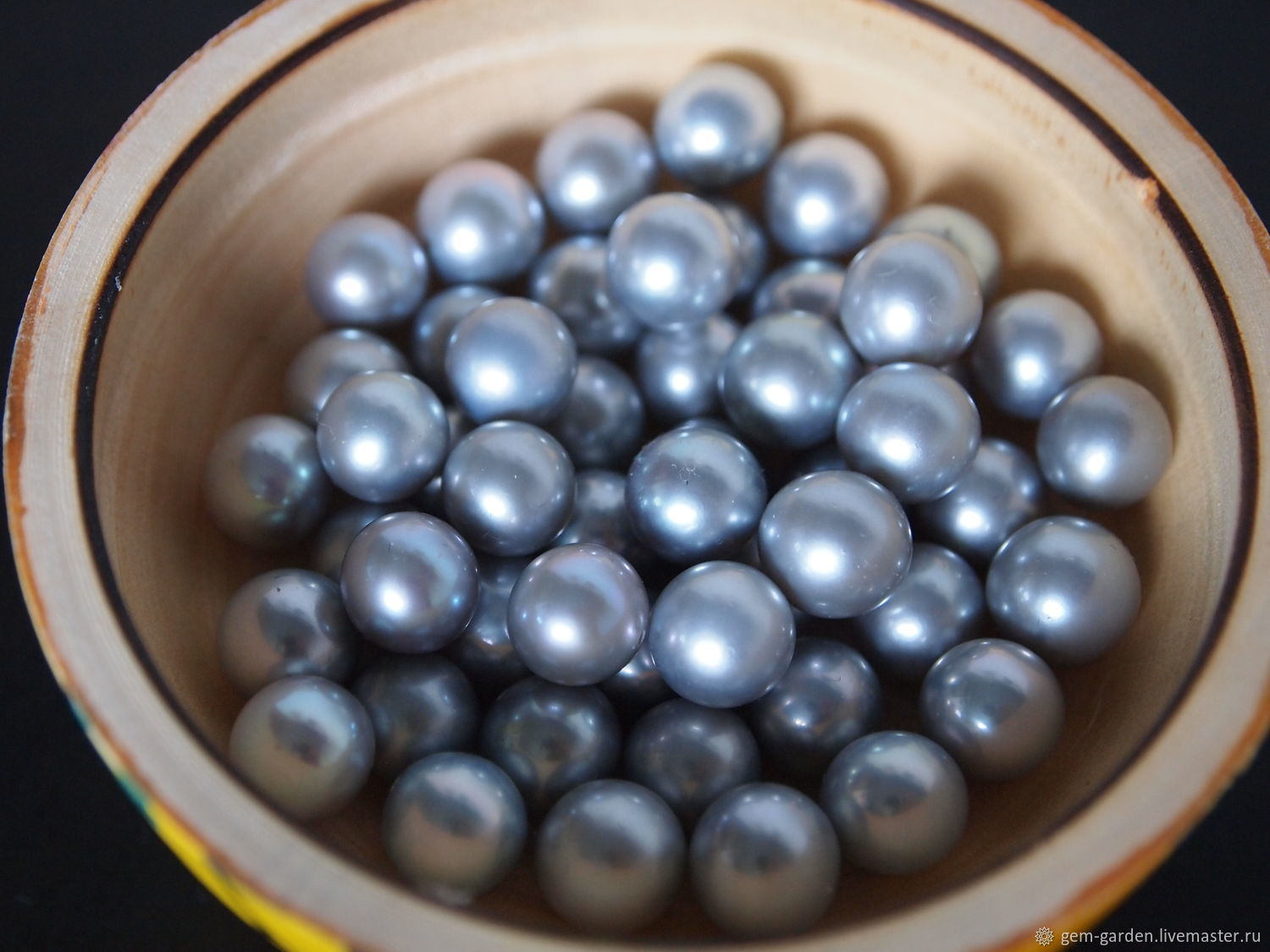 Freshwater Pearl Gray 9,0-9,5, Beads1, Moscow,  Фото №1