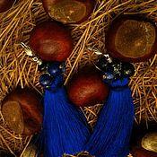 """Украшения ручной работы. Ярмарка Мастеров - ручная работа Серьги """"Голубика"""". Handmade."""