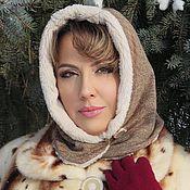 Шапки ручной работы. Ярмарка Мастеров - ручная работа Шалетта Снежинка - теплая зимняя шапочка-капор. Handmade.