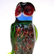 Для дома и интерьера handmade. Livemaster - original item Interior figurine made of colored glass woodsy Owl Stanislaus. Handmade.