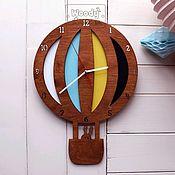 Для дома и интерьера ручной работы. Ярмарка Мастеров - ручная работа Часы настенные детские Балун Вуди. Handmade.