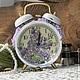 """Часы для дома ручной работы. Часы-будильник """"Сирень"""". Евгения (decor-evgenia). Ярмарка Мастеров. Шебби, подарок девушке"""