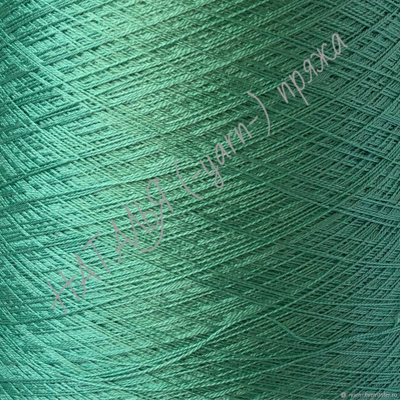 Пряжа Шёлк арт Shappe светло-зеленый – купить на Ярмарке Мастеров – JJRLKRU   Пряжа, Санкт-Петербург