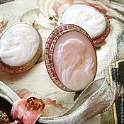 Украшения handmade. Livemaster - original item Cameo Belissima! Silver earrings and ring with mother of pearl in zircon. Handmade.