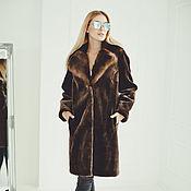 Одежда handmade. Livemaster - original item Beaver fur coat in brown. Handmade.