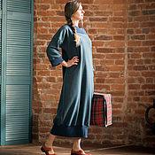 Одежда ручной работы. Ярмарка Мастеров - ручная работа Длинное теплое платье Токио. Handmade.
