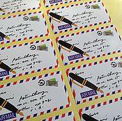 Материалы для творчества ручной работы. Ярмарка Мастеров - ручная работа Наклейка, стикер  (10 штук). Handmade.