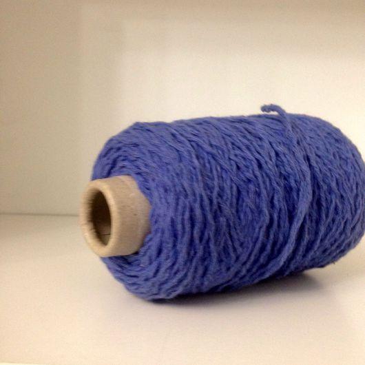 Вязание ручной работы. Ярмарка Мастеров - ручная работа. Купить Полушерсть. Handmade. Голубой, меланжевая пряжа, пряжа для вязания спицами