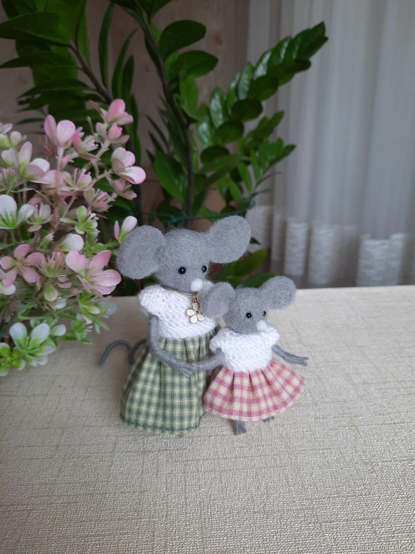 Интерьерные игрушки: мышки, Войлочная игрушка, Харьков,  Фото №1