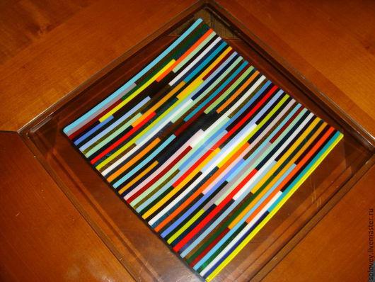 """Тарелки ручной работы. Ярмарка Мастеров - ручная работа. Купить Тарелка """"Разноцвет"""". Handmade. Разноцветный, посуда"""