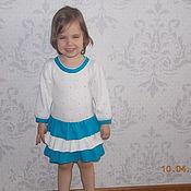 Работы для детей, ручной работы. Ярмарка Мастеров - ручная работа вязаное платье с воланами. Handmade.