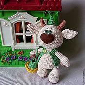 Куклы и игрушки ручной работы. Ярмарка Мастеров - ручная работа Бычок Одуванчик. Handmade.
