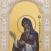 Картины и панно handmade. Livemaster - original item Saint Ambrose of Optina (18x24cm). Handmade.