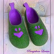 Обувь ручной работы handmade. Livemaster - original item Two-tone felted Slippers.. Handmade.