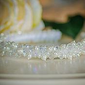 Свадебный салон handmade. Livemaster - original item Bezel wedding. Snow tiara.. Handmade.
