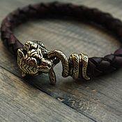 Украшения handmade. Livemaster - original item Men`s leather bracelet