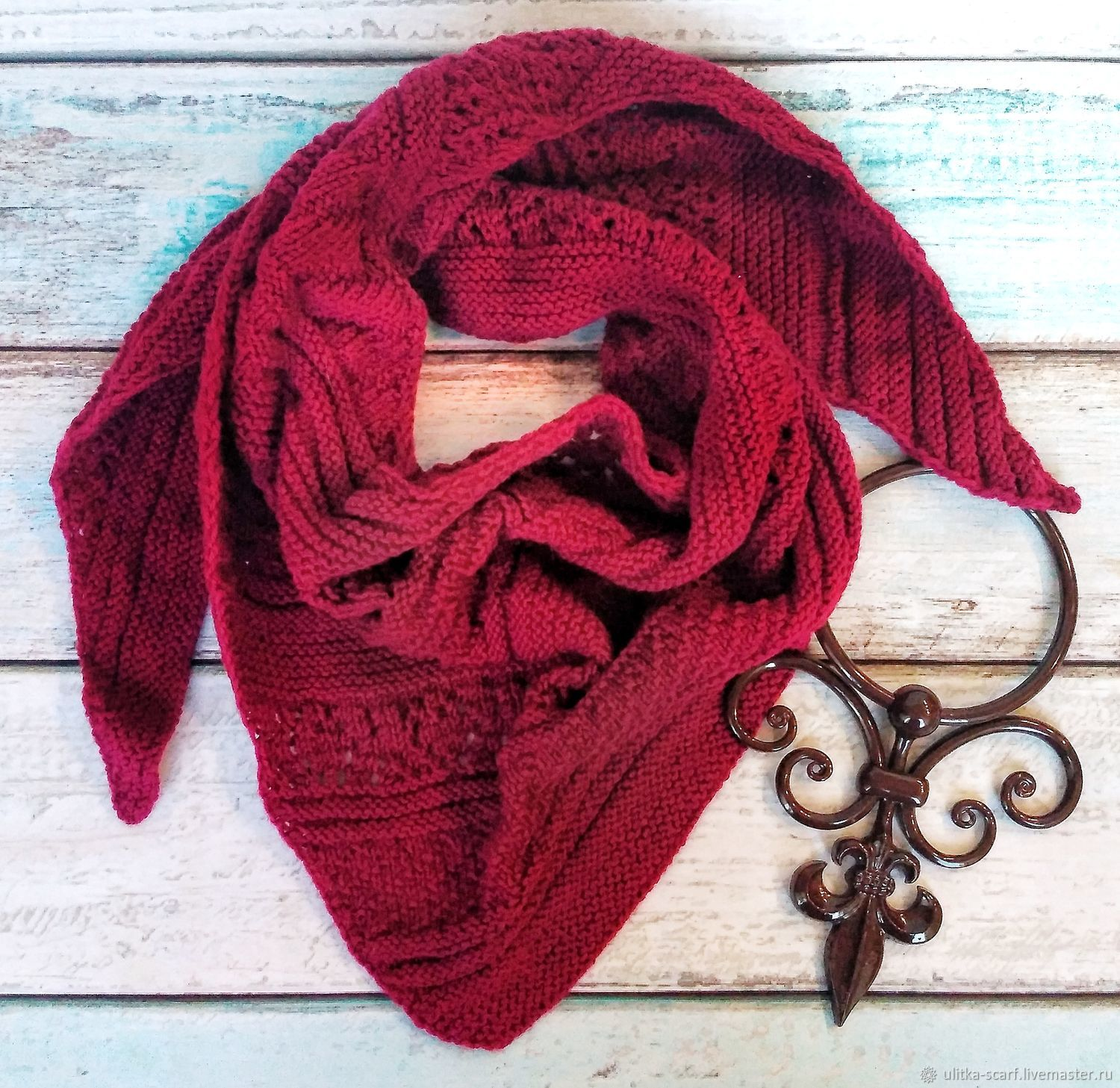 Bacchus Wine wool blend, Scarves, Moscow,  Фото №1
