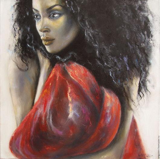 Люди, ручной работы. Ярмарка Мастеров - ручная работа. Купить Мади Синриан. Handmade. Портрет, африка, африканский стиль, холст