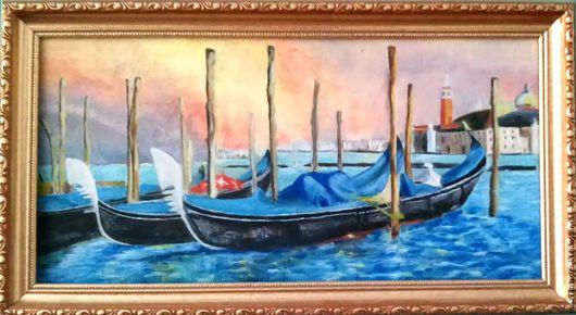 Город ручной работы. Ярмарка Мастеров - ручная работа. Купить Загадочная Венеция. Handmade. Разноцветный, картина маслом, вода