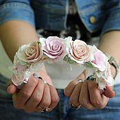 Свадебный салон ручной работы. Ярмарка Мастеров - ручная работа Ободочек в пастельных тонах. Handmade.