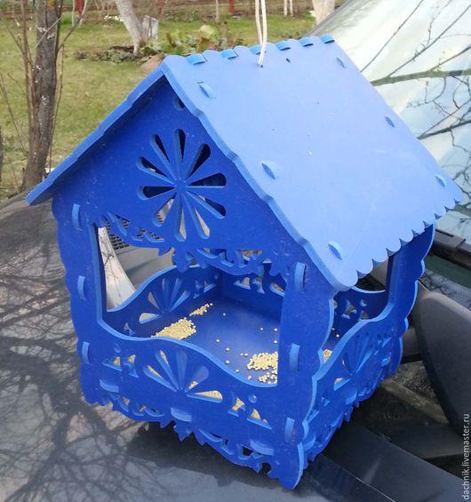 Для других животных, ручной работы. Ярмарка Мастеров - ручная работа. Купить Резная кормушка для птиц из пластика для улицы. Handmade.