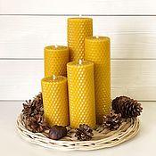 Свечи ручной работы. Ярмарка Мастеров - ручная работа Свечи из вощины, набор 5шт. Handmade.