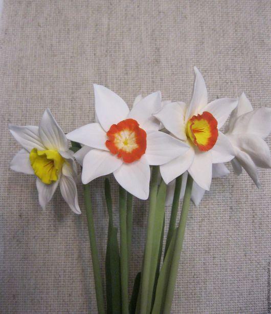 Цветы ручной работы. Ярмарка Мастеров - ручная работа. Купить Нарциссы... просто нарциссы.... Handmade. Белый, букет из полимерной глины