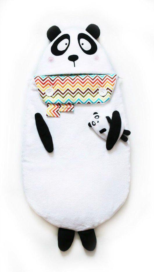 """Для новорожденных, ручной работы. Ярмарка Мастеров - ручная работа. Купить Конверт на выписку и для прогулок """"Супер-панда"""". Handmade. для детей"""