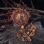 """Украшения ручной работы. Ярмарка Мастеров - ручная работа Кулон """"Осенний мишка"""". Handmade."""
