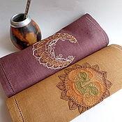 Для дома и интерьера ручной работы. Ярмарка Мастеров - ручная работа салфетки с вышивкой Этника. Handmade.