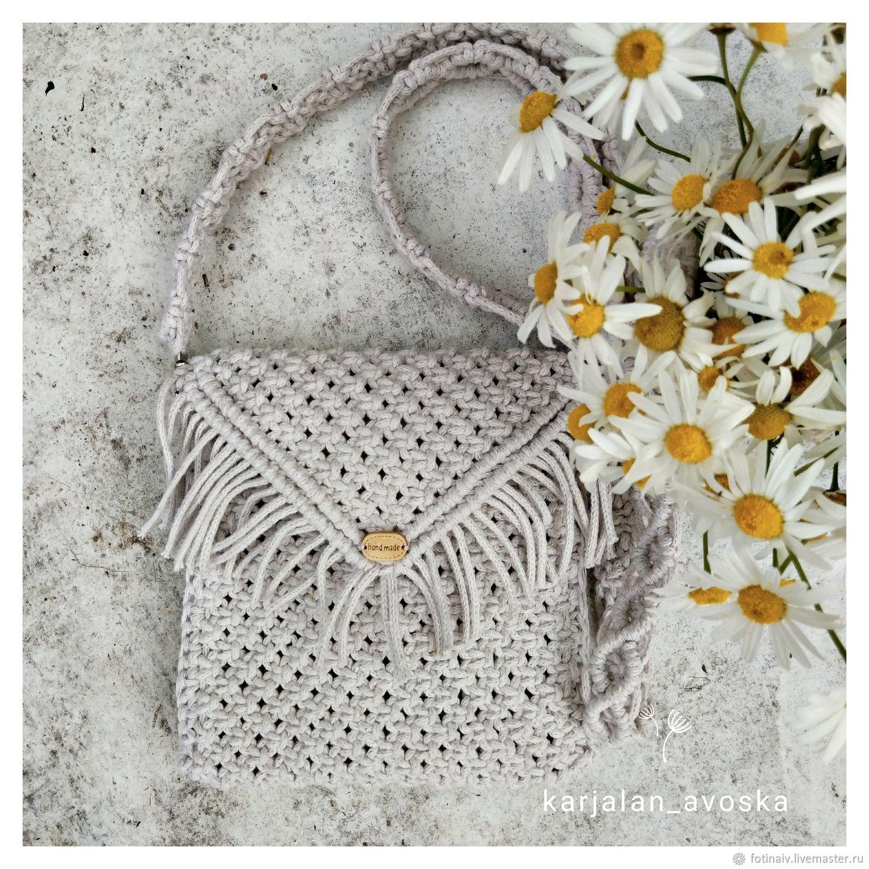 Handbag macrame, Crossbody bag, Petrozavodsk,  Фото №1