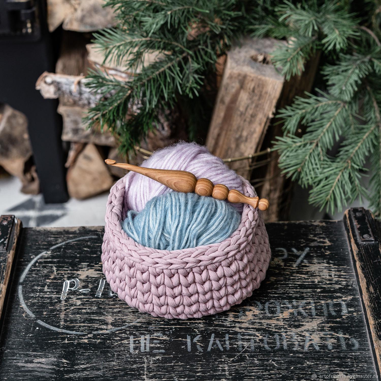 5,5 mm cedar wood knitting hook. K197, Crochet Hooks, Novokuznetsk,  Фото №1