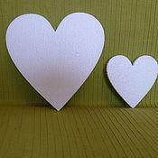 Сердце плоское пенопласт