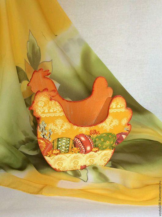 Подарки на Пасху ручной работы. Ярмарка Мастеров - ручная работа. Купить Конфетница Курочка пасхальная. Handmade. Оранжевый, пасхальный подарок
