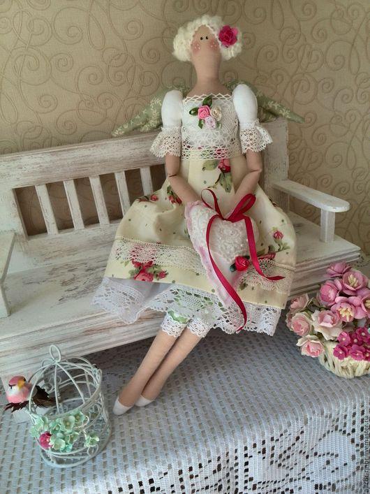 Куклы Тильды ручной работы. Ярмарка Мастеров - ручная работа. Купить Тильда ангелочек. Handmade. Комбинированный, новинка, беж