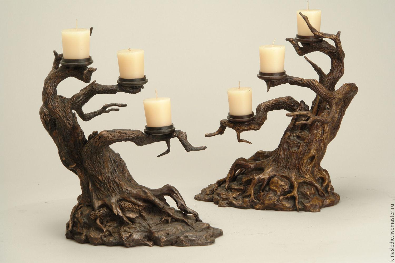Раскрашенные подсвечники из дерева своими руками