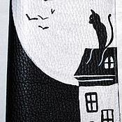 Канцелярские товары ручной работы. Ярмарка Мастеров - ручная работа Обложка Кот на крыше. Handmade.