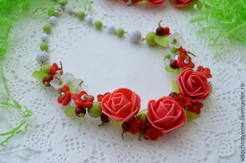 Jewelry set for girls 'Coral rose', Gift for newborn, Kolomna,  Фото №1
