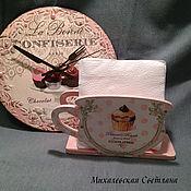 Для дома и интерьера ручной работы. Ярмарка Мастеров - ручная работа часы на стену на кухню набор Парижский десерт  подарок декупаж. Handmade.