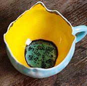 Кружки ручной работы. Ярмарка Мастеров - ручная работа Лили, цветочная чашка. Handmade.