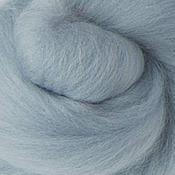Материалы для творчества ручной работы. Ярмарка Мастеров - ручная работа Меринос 16 мк окрашенный - цвет Серый шебби. Handmade.