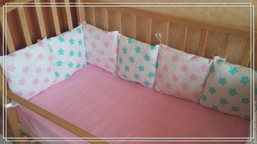 Для новорожденных, ручной работы. Ярмарка Мастеров - ручная работа. Купить Бортики в кроватку. Handmade. Орнамент, бортики в кроватку, бортики
