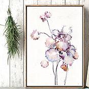 Картины и панно handmade. Livemaster - original item Flowers. Wind and herbs.Watercolor. Handmade.
