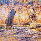 """Город ручной работы. Ярмарка Мастеров - ручная работа. Купить """"Белой ночью"""", 60/80. Handmade. Оранжевый, мосты Питера"""